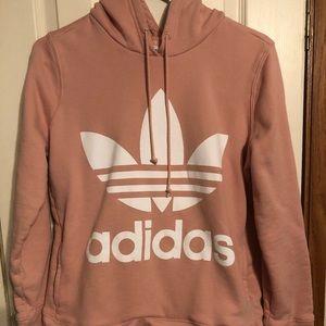 Adidas super cute pink hoodie size M